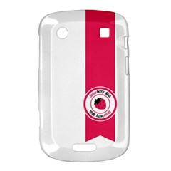 Brand Ribbon Pink With White BlackBerry Bold Touch 9900 9930 Hardshell Case