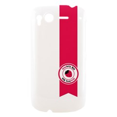 Brand Ribbon Pink With White HTC Desire S Hardshell Case