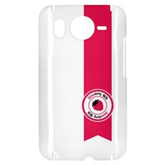 Brand Ribbon Pink With White HTC Desire HD Hardshell Case
