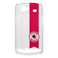 Brand Ribbon Pink With White Samsung Galaxy Nexus S i9020 Hardshell Case