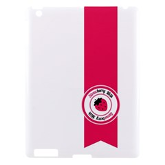 Brand Ribbon Pink With White Apple Ipad 3/4 Hardshell Case