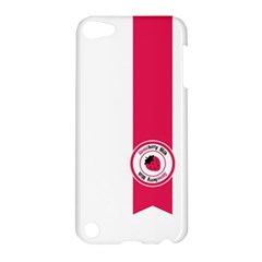 Brand Ribbon Pink With White Apple iPod Touch 5 Hardshell Case