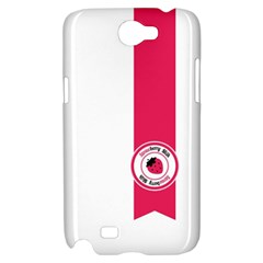Brand Ribbon Pink With White Samsung Galaxy Note 2 Hardshell Case