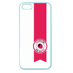 Brand Ribbon Pink With White Apple Seamless Iphone 5 Case (color)