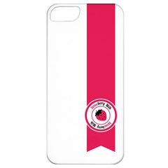 Brand Ribbon Pink With White Apple iPhone 5 Classic Hardshell Case