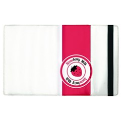 Brand Ribbon Pink With White Apple iPad 2 Flip Case