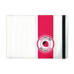 Brand Ribbon Pink With White Apple Ipad Mini Flip Case