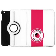 Brand Ribbon Pink With White Apple iPad Mini Flip 360 Case