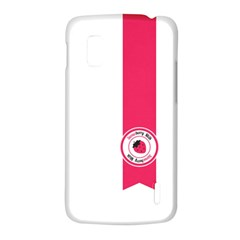 Brand Ribbon Pink With White LG Nexus 4 E960 Hardshell Case