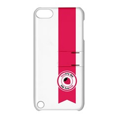 Brand Ribbon Pink With White Apple Ipod Touch 5 Hardshell Case With Stand