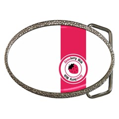 Brand Ribbon Pink With White Belt Buckle