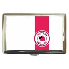 Brand Ribbon Pink With White Cigarette Money Case