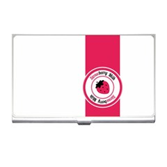 Brand Ribbon Pink With White Business Card Holder