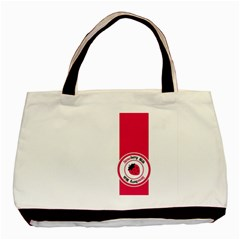 Brand Ribbon Pink With White Classic Tote Bag