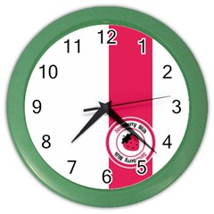 Brand Ribbon Pink With White Color Wall Clock