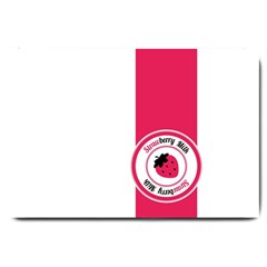 Brand Ribbon Pink With White Large Doormat