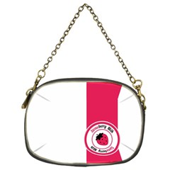 Brand Ribbon Pink With White Chain Purse (one Side)