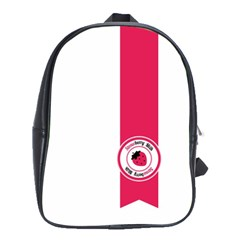Brand Ribbon Pink With White School Bag (Large)