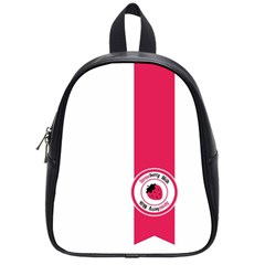 Brand Ribbon Pink With White School Bag (small)