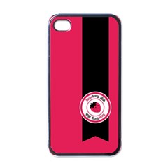 Brand Ribbon Black With Pink Apple Iphone 4 Case (black)