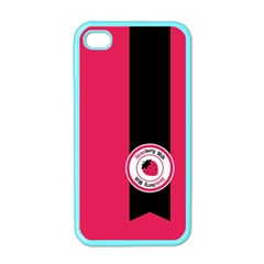 Brand Ribbon Black With Pink Apple Iphone 4 Case (color)