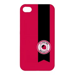 Brand Ribbon Black With Pink Apple iPhone 4/4S Hardshell Case