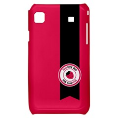 Brand Ribbon Black With Pink Samsung Galaxy S i9000 Hardshell Case