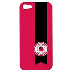 Brand Ribbon Black With Pink Apple Iphone 5 Hardshell Case