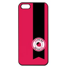 Brand Ribbon Black With Pink Apple Iphone 5 Seamless Case (black)