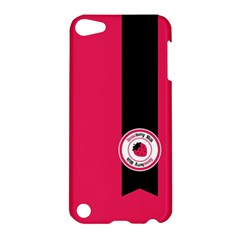 Brand Ribbon Black With Pink Apple iPod Touch 5 Hardshell Case