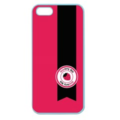 Brand Ribbon Black With Pink Apple Seamless iPhone 5 Case (Color)