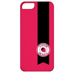 Brand Ribbon Black With Pink Apple iPhone 5 Classic Hardshell Case