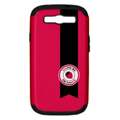 Brand Ribbon Black With Pink Samsung Galaxy S III Hardshell Case (PC+Silicone)