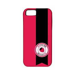 Brand Ribbon Black With Pink Apple iPhone 5 Classic Hardshell Case (PC+Silicone)
