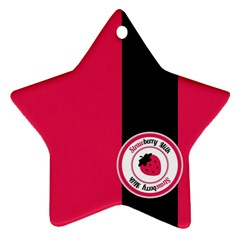 Brand Ribbon Black With Pink Ornament (Star)