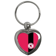 Brand Ribbon Black With Pink Key Chain (heart)
