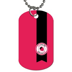 Brand Ribbon Black With Pink Dog Tag (Two Sides)