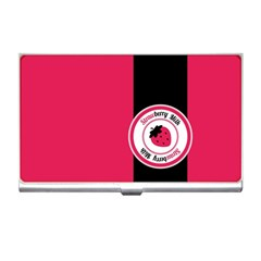 Brand Ribbon Black With Pink Business Card Holder