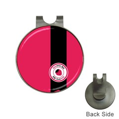 Brand Ribbon Black With Pink Golf Ball Marker Hat Clip