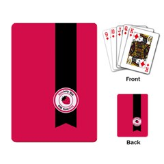Brand Ribbon Black With Pink Playing Cards Single Design