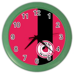 Brand Ribbon Black With Pink Color Wall Clock