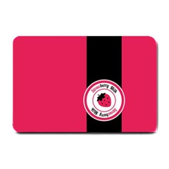 Brand Ribbon Black With Pink Small Doormat