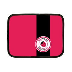 Brand Ribbon Black With Pink Netbook Case (Small)