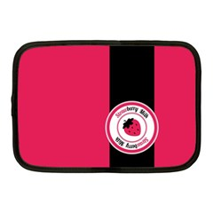 Brand Ribbon Black With Pink Netbook Case (Medium)