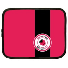 Brand Ribbon Black With Pink Netbook Case (Large)