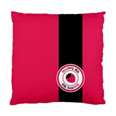 Brand Ribbon Black With Pink Cushion Case (One Side)