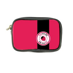 Brand Ribbon Black With Pink Coin Purse
