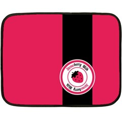 Brand Ribbon Black With Pink Mini Fleece Blanket(Two Sides)