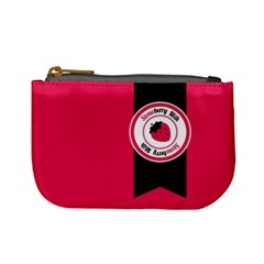 Brand Ribbon Black With Pink Mini Coin Purse
