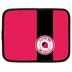 Brand Ribbon Black With Pink Netbook Case (xl)